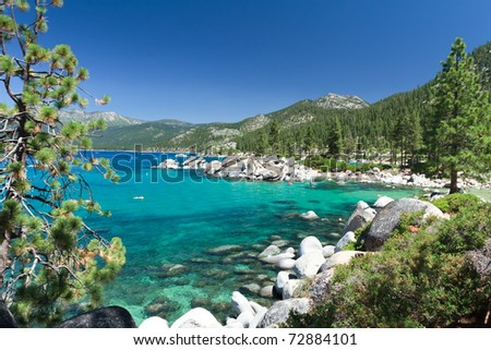 beautiful Sand Harbor, Lake Tahoe - stock photo