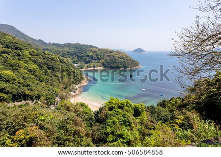 Beautiful sandy beach in Hong Kong Clear Water Bay, Country Park
