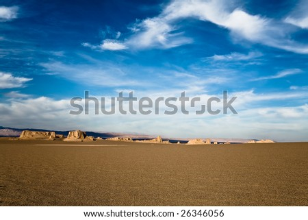 Beautiful sandy hills in a desert