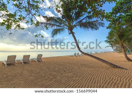 Beautiful Sanur beach on Bali, Indonesia. - stock photo