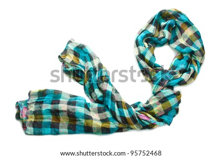 Beautiful scarf isolated on white