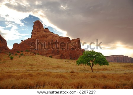 Beautiful scene in Monument Valley, Utah, United States - stock photo