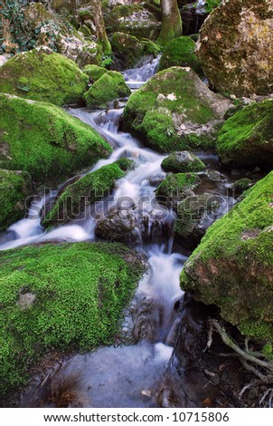 Beautiful Scenery A Waterfall