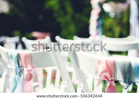 Beautiful scenery for wedding ceremony on the nature