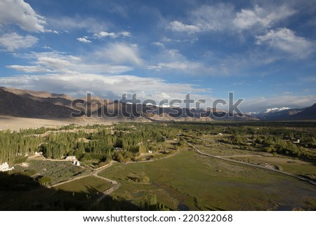 Beautiful scenery, Leh, Ladakh, Jammu and Kashmir, India