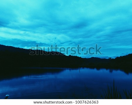 Beautiful scenery of a river and a lake