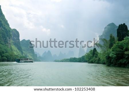 beautiful scenery of guilin, China - stock photo