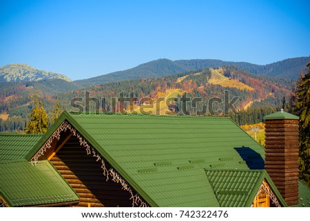 Beautiful scenery mountains forests rest outside stock photo beautiful scenery of mountains and forests rest outside the city traveling to ecological places voltagebd Images