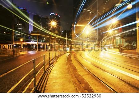Beautiful scenery of the city at night - stock photo