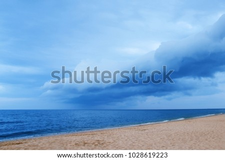 beautiful scenery sea shore in the summer on the nature