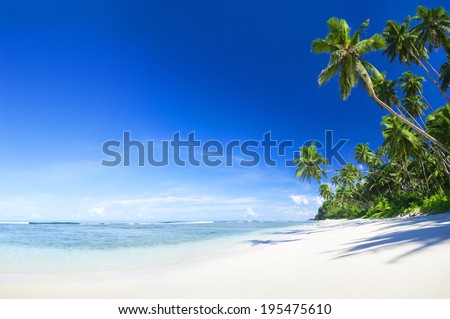 Beautiful scenic beach - stock photo