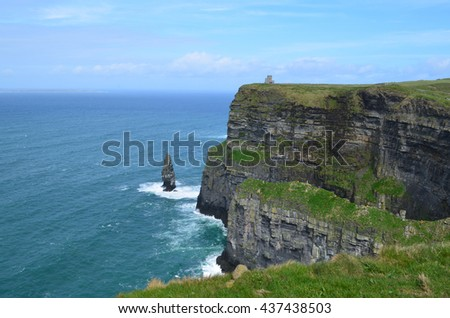 Beautiful scenic Cliffs of Moher in County Clare Ireland.