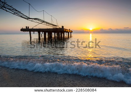 Beautiful scenic sea landscape - stock photo