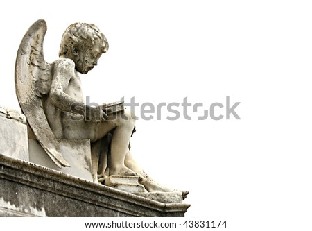 Beautiful sculpture at a cemetery in Melbourne Australia - stock photo
