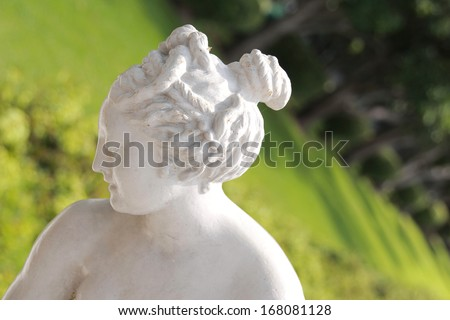 beautiful sculpture in Thailand - stock photo