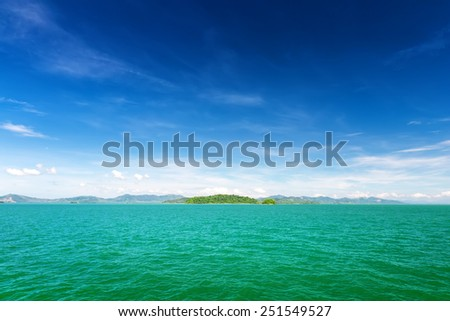 Beautiful sea and a blue sky