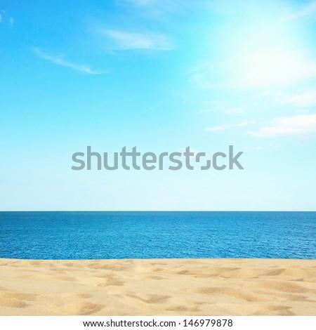 Beautiful sea and beach - stock photo