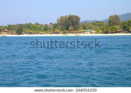Beautiful sea at tropical island, Koh Lipe, Andaman Sea, Thailand - stock photo