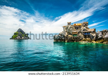 Beautiful sea at tropical island, Koh Tao, Thailand - stock photo