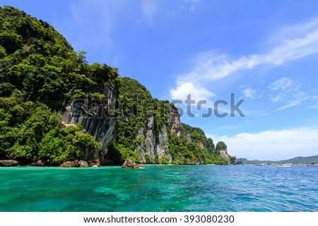 Beautiful sea in Krabi Thailand.