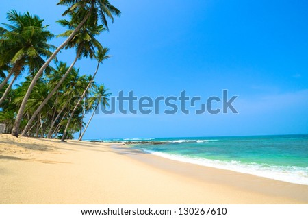 Beautiful sea landscape - stock photo