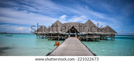 Beautiful sea landscape at Gili Lankanfushi in the Maldives
