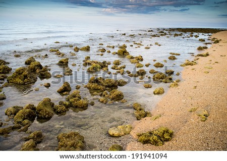 beautiful sea landscape of Sumbawa, Indonesia - stock photo