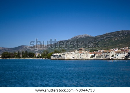 Beautiful sea landscape, taken in Marina Kastela, Croatia