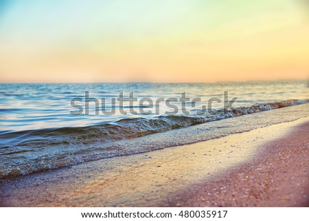 Beautiful sea shore with rocks