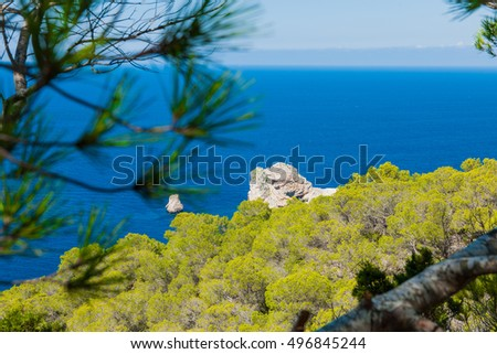 Beautiful sea view from a cliff