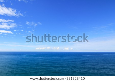 Beautiful sea with blue sky on sunny day - stock photo