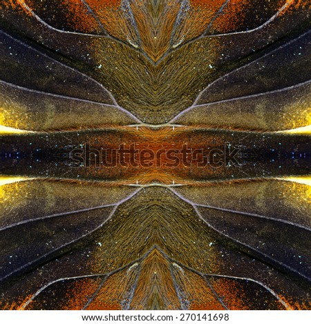 Beautiful seamless brown background made of Tufted Jungleking butterfly's wing texture - stock photo