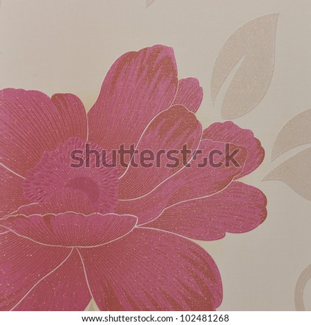 Beautiful seamless color flower pattern on wallpaper. - stock photo