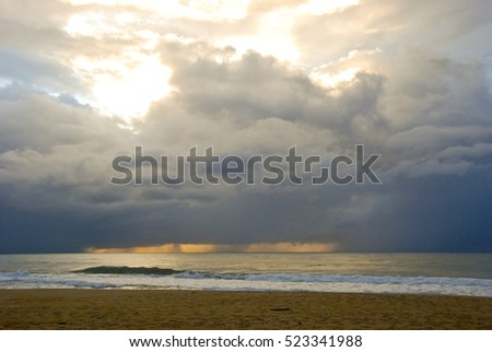 Beautiful seascape at sunset Composition of nature