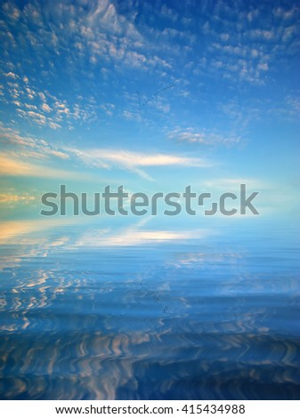 Beautiful seascape background. Element of design - stock photo