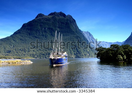 Beautiful seascape from new Zealand - stock photo