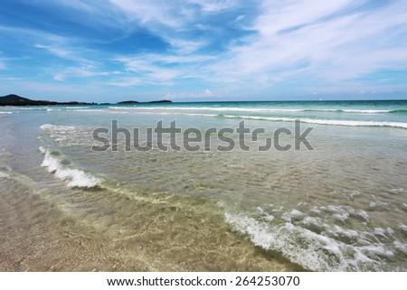 Beautiful seascape in Thailand on Koh Samui - stock photo