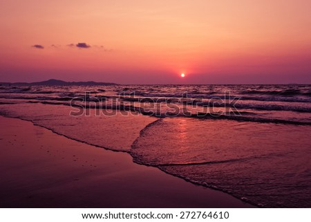 Beautiful seascape. Natural composition. - stock photo