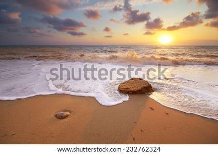 Beautiful seascape. Nature composition. - stock photo