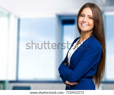 Beautiful secretary portrait