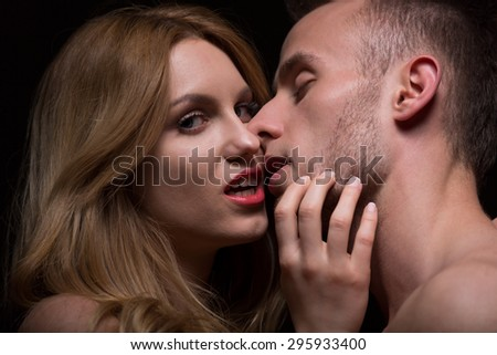 Beautiful seductive woman and her handsome boyfriend