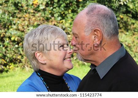 Beautiful senior couple in love - stock photo