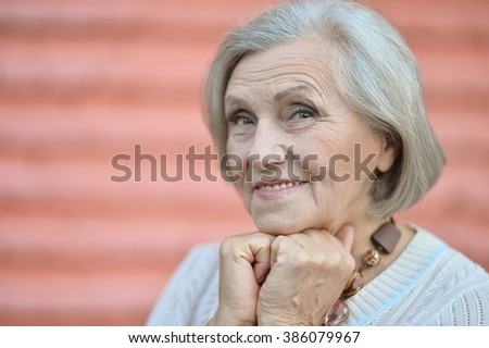 beautiful senior woman outdoor