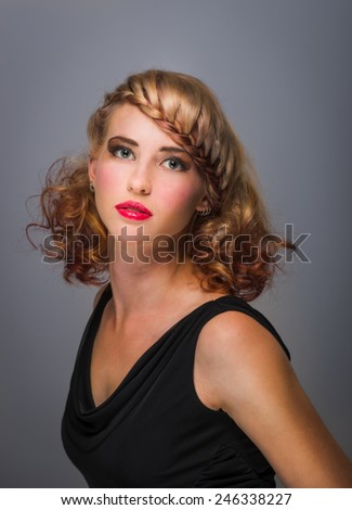 Beautiful sensual woman with elegant hairstyle