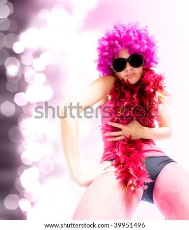 beautiful sexual woman. dance style - stock photo