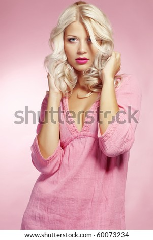 Beautiful sexy blond woman studio shot