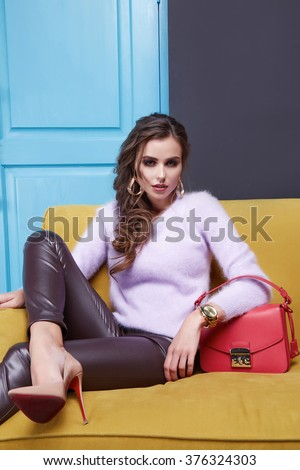 Red Leather Couch Stock Images Royalty Free Images