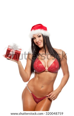 Sexy christmas female bodybuilders