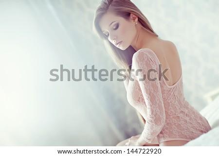 Beautiful sexy woman - stock photo