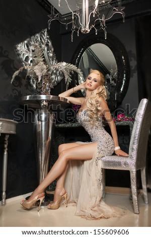 Beautiful Sexy Woman Luxury Interior Glamour Stock Photo 155609606 Shutterstock